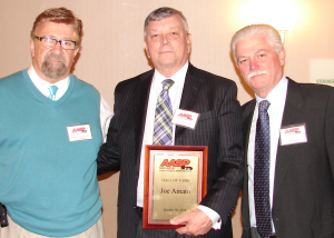 Joe Amato (center) was inducted into the AASP/NJ Hall of Fame at the association's 2014 Annual Meeting.